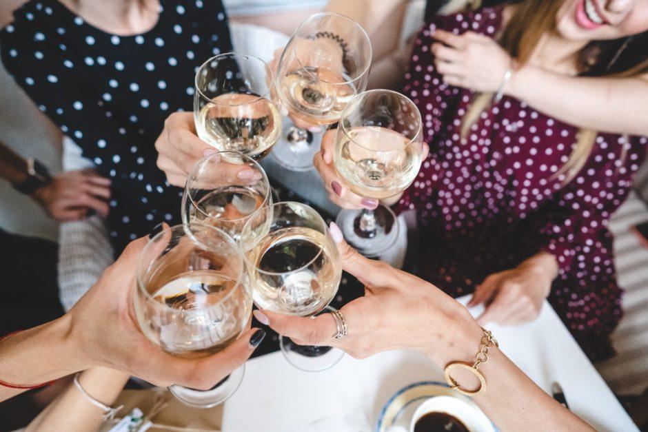 Six glasses of wine